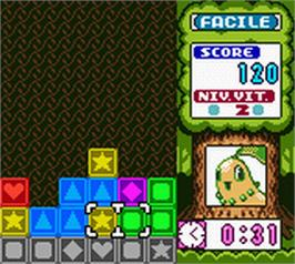 In game image of Pokemon Puzzle Challenge on the Nintendo Game Boy Color.