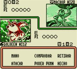 In game image of Pokemon Trading Card Game on the Nintendo Game Boy Color.