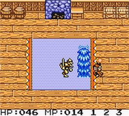 In game image of Quest RPG - Brian's Journey on the Nintendo Game Boy Color.