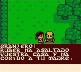 In game image of Quest for Camelot on the Nintendo Game Boy Color.