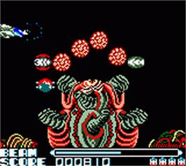 In game image of R-Type DX on the Nintendo Game Boy Color.