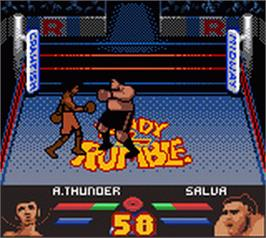 In game image of Ready 2 Rumble Boxing on the Nintendo Game Boy Color.