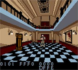 In game image of Resident Evil: Gaiden on the Nintendo Game Boy Color.
