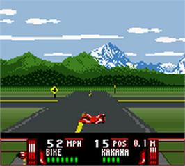 In game image of Road Rash on the Nintendo Game Boy Color.