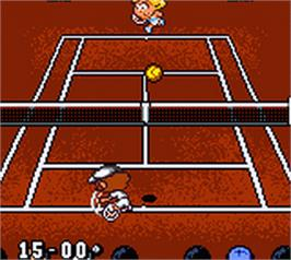 In game image of Roland Garros French Open 2000 on the Nintendo Game Boy Color.