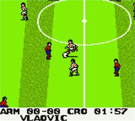 In game image of Ronaldo V-Football on the Nintendo Game Boy Color.