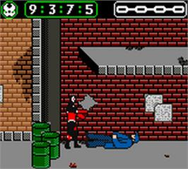 In game image of Spawn on the Nintendo Game Boy Color.