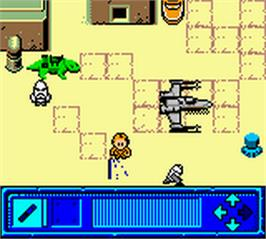 In game image of Star Wars: Yoda Stories on the Nintendo Game Boy Color.