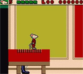 In game image of Stuart Little: The Journey Home on the Nintendo Game Boy Color.