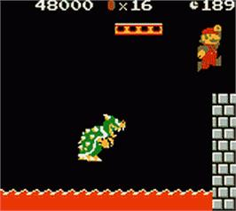 In game image of Super Mario Bros. Deluxe on the Nintendo Game Boy Color.