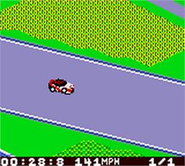 In game image of TOCA Touring Car Championship on the Nintendo Game Boy Color.