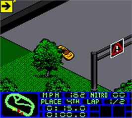 In game image of Test Drive 2001 on the Nintendo Game Boy Color.