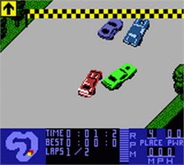 In game image of Test Drive 6 on the Nintendo Game Boy Color.