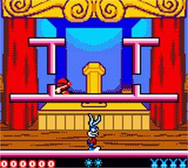 In game image of Tiny Toon Adventures: Buster Saves the Day on the Nintendo Game Boy Color.