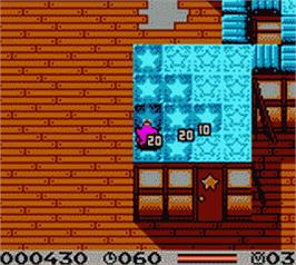 In game image of Tiny Toon Adventures: Dizzy's Candy Quest on the Nintendo Game Boy Color.
