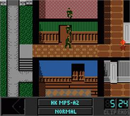 In game image of Tom Clancy's Rainbow Six on the Nintendo Game Boy Color.