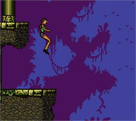 In game image of Tomb Raider on the Nintendo Game Boy Color.