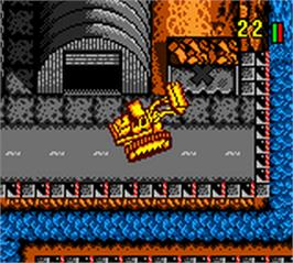 In game image of Tonka Construction Site on the Nintendo Game Boy Color.