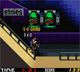 In game image of Tony Hawk's Pro Skater 2 on the Nintendo Game Boy Color.