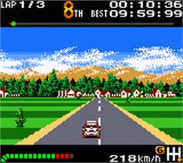 In game image of Top Gear Pocket on the Nintendo Game Boy Color.