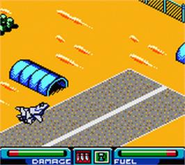 In game image of Top Gun: Firestorm on the Nintendo Game Boy Color.