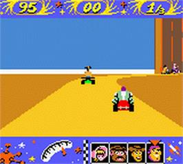 In game image of Toy Story Racer on the Nintendo Game Boy Color.