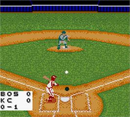 In game image of Triple Play 2001 on the Nintendo Game Boy Color.