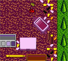 In game image of Tyco Racin' Ratz on the Nintendo Game Boy Color.