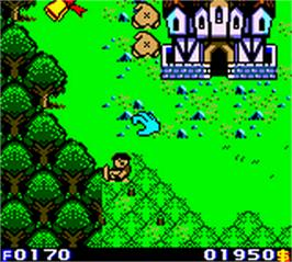 In game image of Warlocked on the Nintendo Game Boy Color.