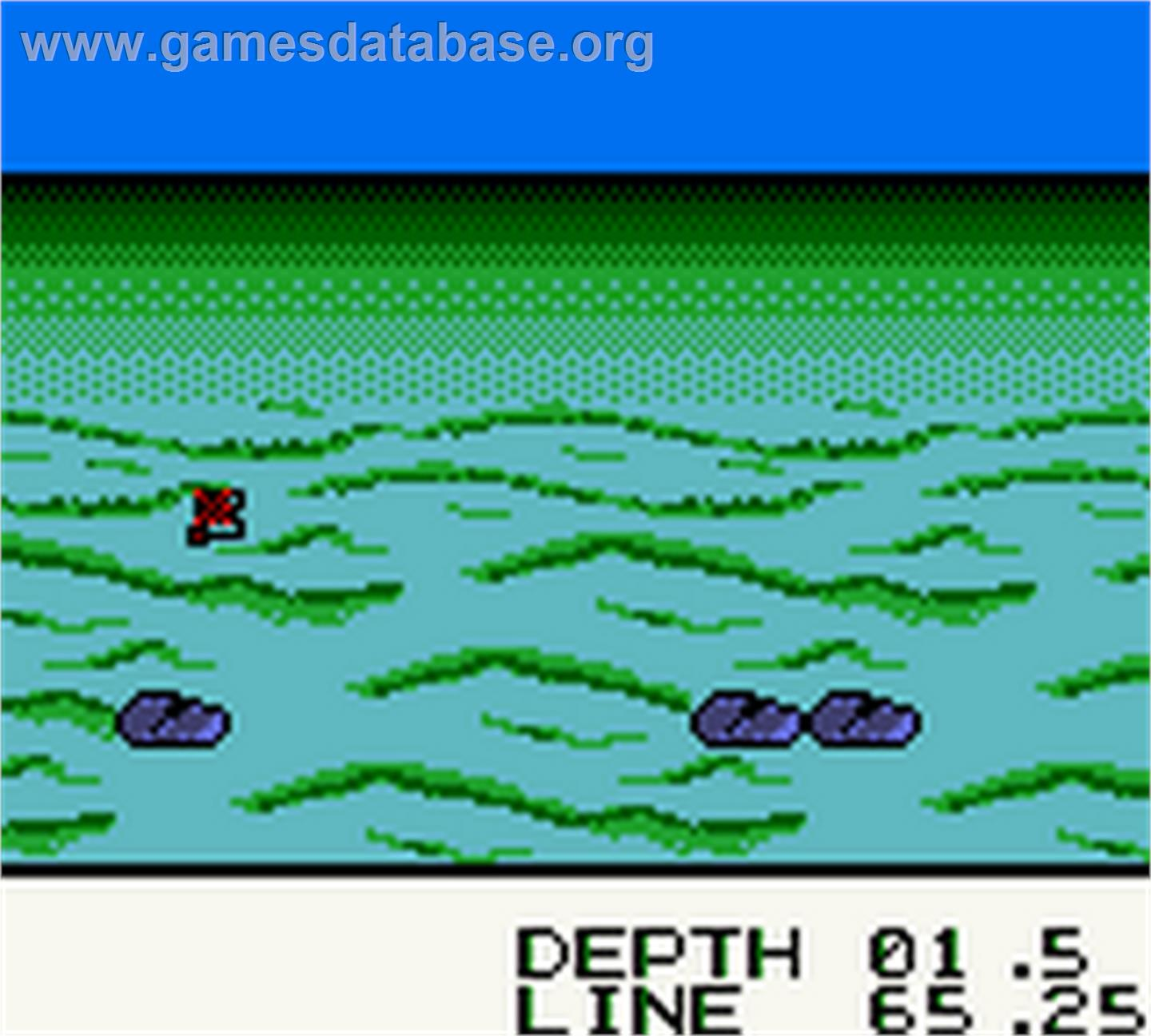 Black Bass - Lure Fishing - Nintendo Game Boy Color - Artwork - In Game