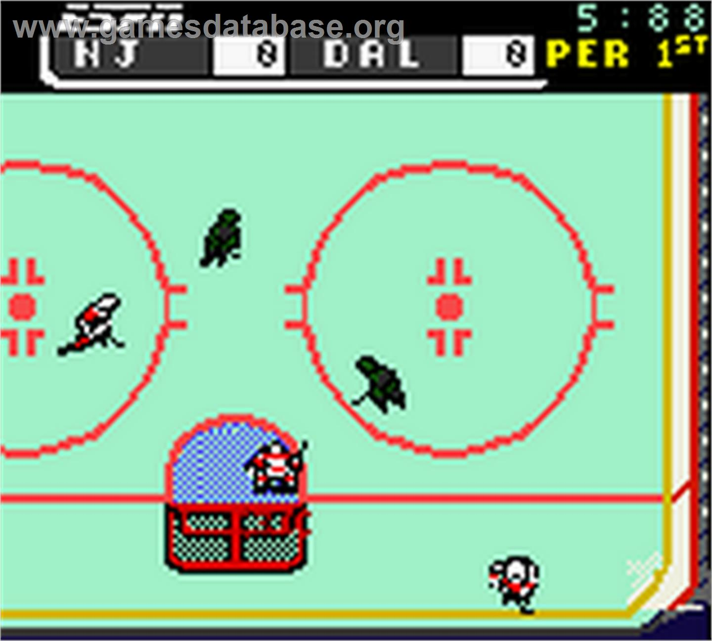 ESPN National Hockey Night - Nintendo Game Boy Color - Artwork - In Game