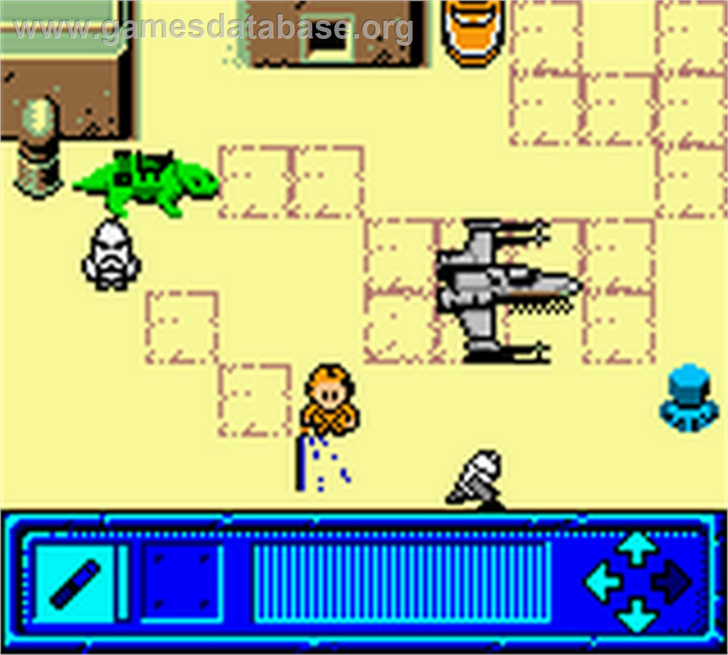 In game image of Star Wars: Yoda Stories on the Nintendo Game Boy