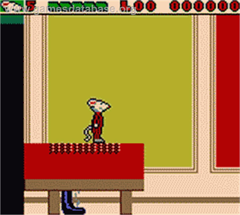 Stuart Little The Journey Home Nintendo Game Boy Color Artwork In Game