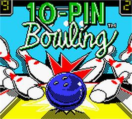 Title screen of 10-Pin Bowling on the Nintendo Game Boy Color.