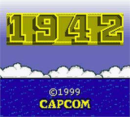 Title screen of 1942 on the Nintendo Game Boy Color.