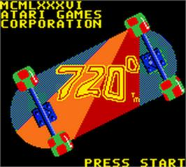 Title screen of 720 Degrees on the Nintendo Game Boy Color.