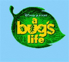 Title screen of A Bug's Life on the Nintendo Game Boy Color.