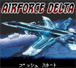 Title screen of Air Force Delta on the Nintendo Game Boy Color.