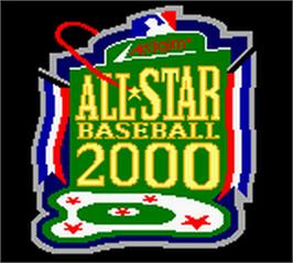 Title screen of All-Star Baseball 2000 on the Nintendo Game Boy Color.