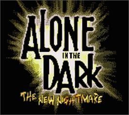Title screen of Alone in the Dark: The New Nightmare on the Nintendo Game Boy Color.