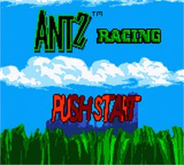 Title screen of Antz Racing on the Nintendo Game Boy Color.