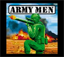 Title screen of Army Men: Air Combat on the Nintendo Game Boy Color.