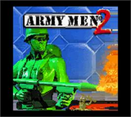 Title screen of Army Men 2 on the Nintendo Game Boy Color.
