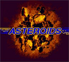 Title screen of Asteroids on the Nintendo Game Boy Color.