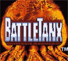 Title screen of BattleTanx on the Nintendo Game Boy Color.
