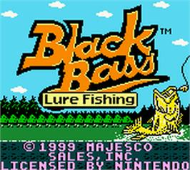 Title screen of Black Bass - Lure Fishing on the Nintendo Game Boy Color.