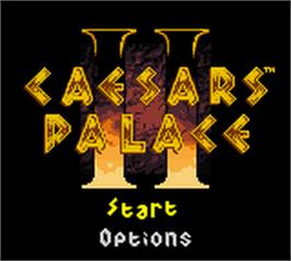 Title screen of Caesars Palace II on the Nintendo Game Boy Color.