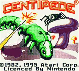 Title screen of Centipede on the Nintendo Game Boy Color.