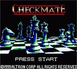 Title screen of Checkmate on the Nintendo Game Boy Color.