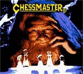 Title screen of Chessmaster on the Nintendo Game Boy Color.